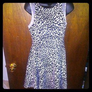 Leopard animal print Cut out mini dress